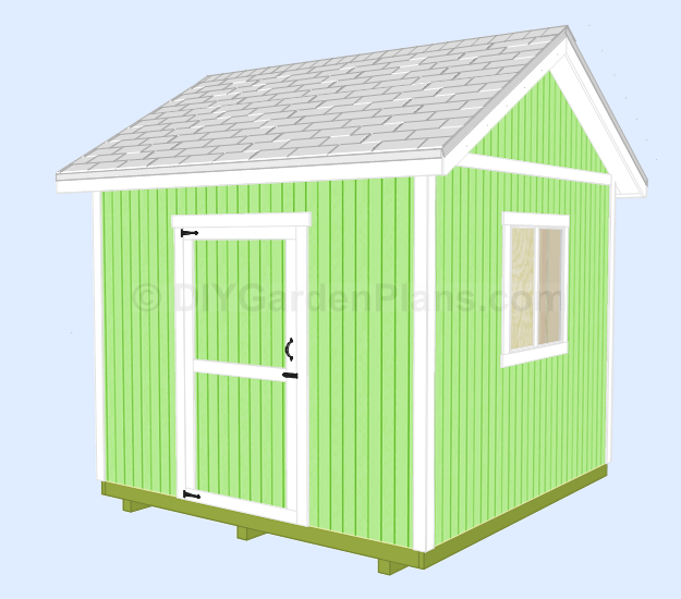 Wood work 8 x 10 gable shed plans free pdf plans for Garden shed 10x10