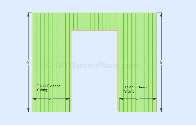 3x8 Siding Gable Shed Plans