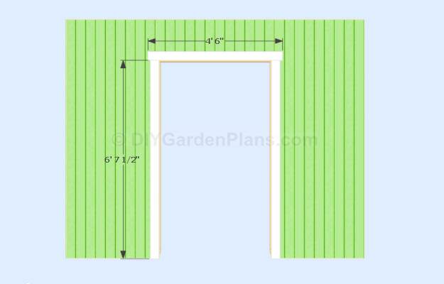 Gable Shed Door Opening