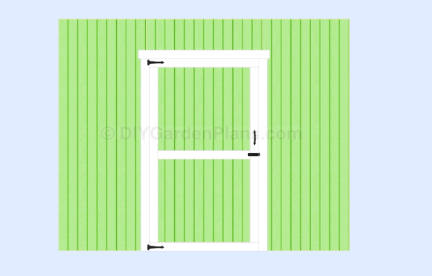 Gable Shed Plans Door Installation