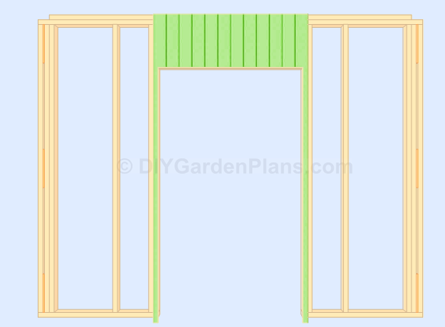 Gable Shed Plans Door Siding Cut