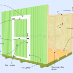 Gable Shed Plans | Front/Back Wall and Door| Page 5