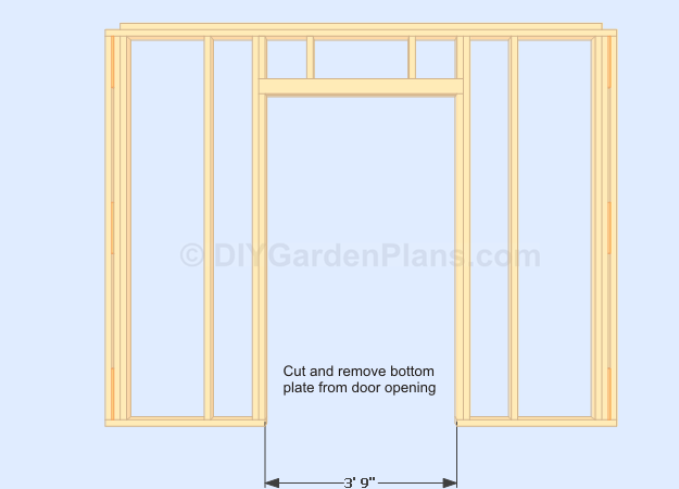 Gable Shed Plans Front Wall Door Opening