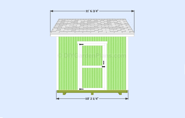 Gable Shed Plans Front View