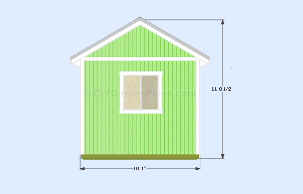 Gable Shed Plans Side View