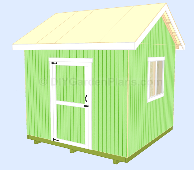 Shed Plans Front-Back Roof Trim