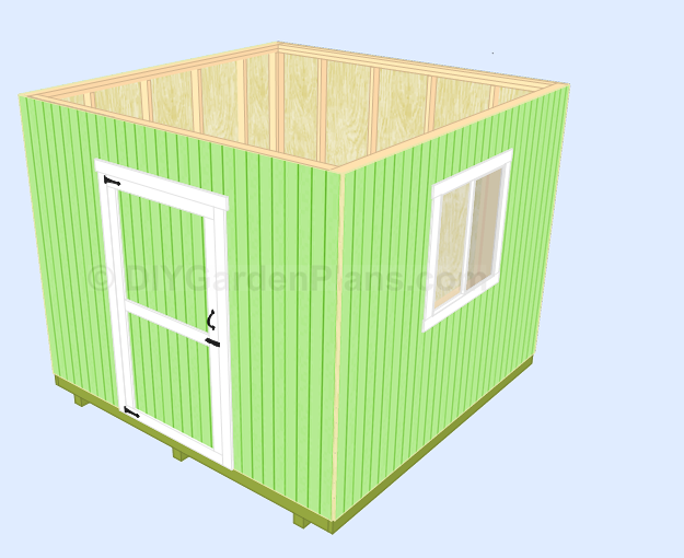 Shed Plans Install Side Walls
