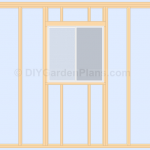 Gable Shed Plans | Cont…|Right Wall & Window| Page 10