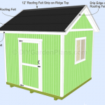Gable Shed Plans| Installing Roof Shingles| Page 18