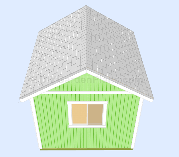 Shed Plans Roof Ridge Cap