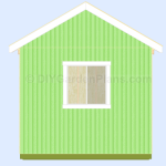 Gable Shed Plans| Trim and Soffit| Page 15