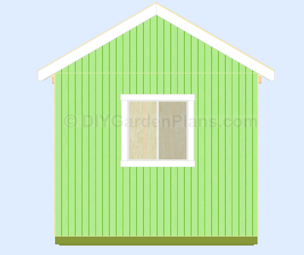 Shed Plans Side Trim