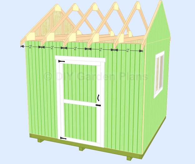 gable shed plans roof rafters cont how to build roof truss