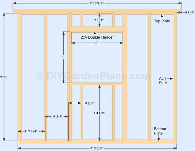 shed plans window frame