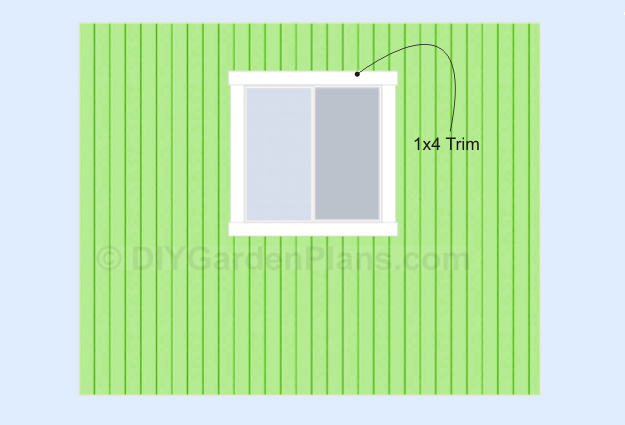 Shed Plans Window Trim