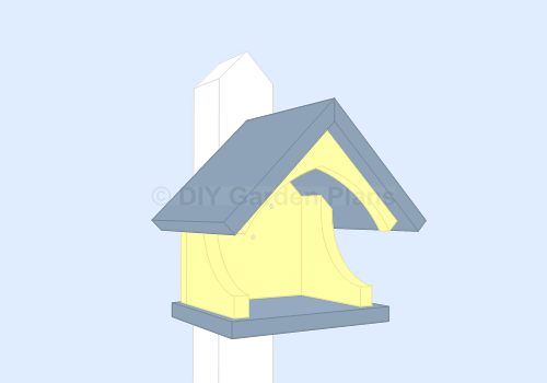 Birdhouse Nesting Shelf plans