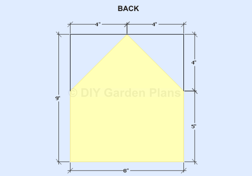 Birdhouse Shelf plans- Back