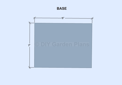 Birdhouse Shelf Plans- Base