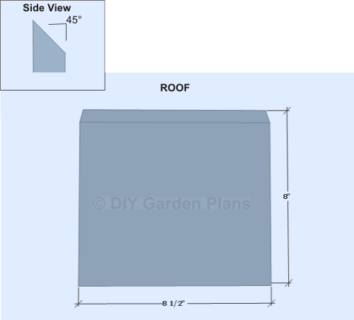 Birdhouse Shelf Plans- Roof