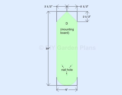 Bluebird House Plans-mounting board