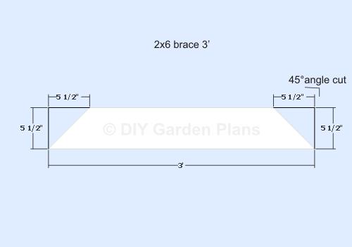 Pergola Plans - 3ft brace