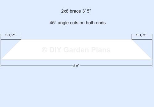 Pergola Plans - 3ft 5in brace