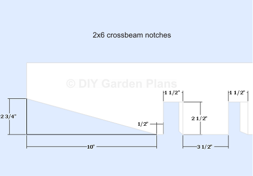 Pergola Plans - Crossbeam Notches