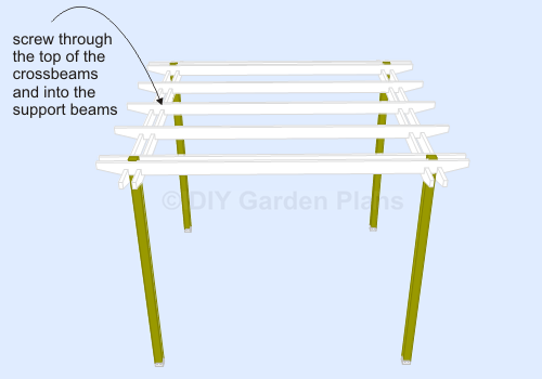 Pergola Plans - Crossbeams