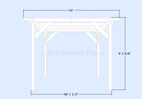 Woodworking Plans Pergola Plans And Material List Blueprints | pdf