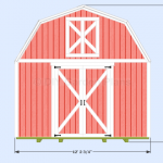 DIY Gambrel Shed Guide: 12'x12′