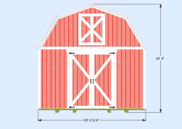 Gambrel-Barn Plans Front View