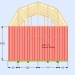 Gambrel Shed Plans With Loft: Front/Back Wall Siding: Page 8