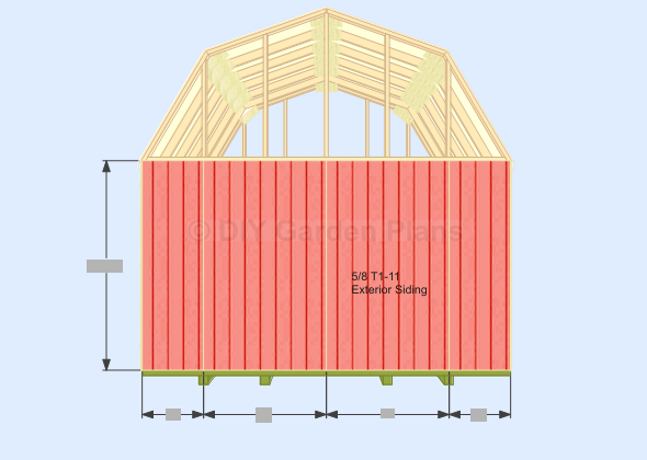 Gambrel shed plans with loft for Loft barn plans