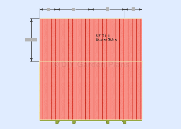 Cut and nail the top front wall siding to the frame using 1 ¼ ...