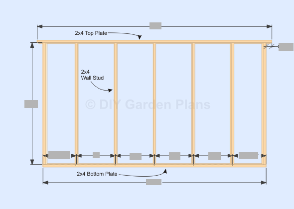 Gambrel-Barn Shed Plans Back Wall Frame