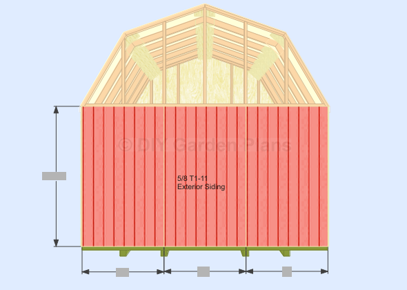 10x12 gambrel shed plans garden must see section sheds for Free barn plans with loft