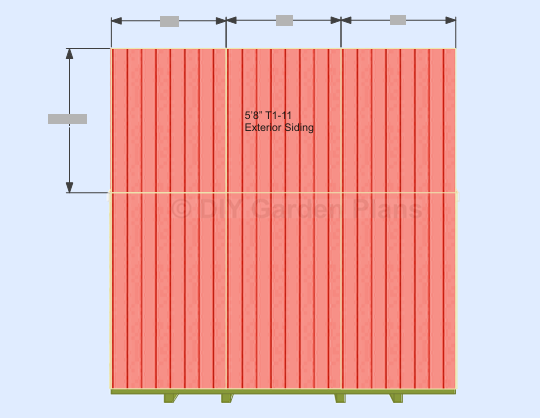 Gambrel-Barn Shed Plans Back Wall Top Siding