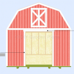 Gambrel Shed Plans With Loft: Double-Door: Page 10