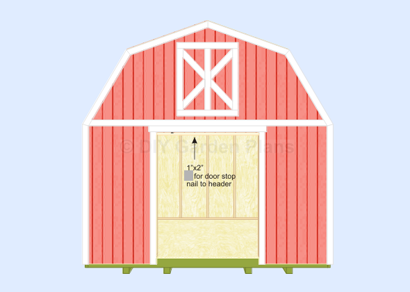 Gambrel-Barn Shed Plans Door Stop