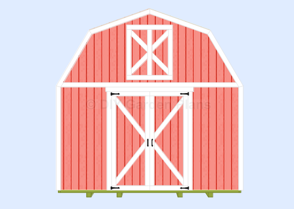 Gambrel-Barn Shed Plans Door