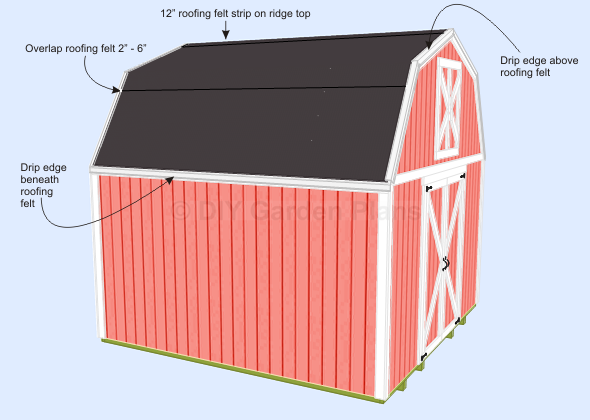 Gambrel Shed Plans With Loft Shingles Page 11