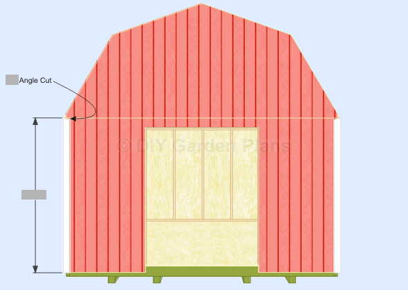 Gambrel-Barn Shed Plans Front Back Corner Trim