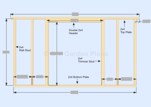 Gambrel Shed Plans With Loft Front Back Wall Frame Page
