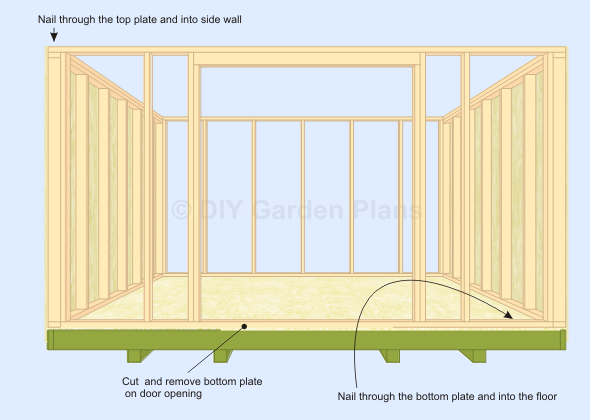 Gambrel-Barn Shed Plans Front Wall