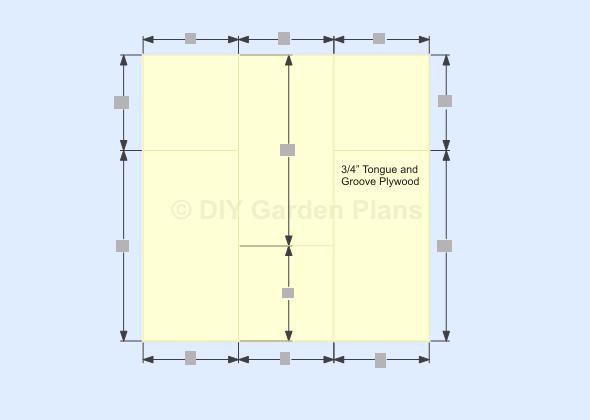 Gambrel-Barn Shed Plans Plywood Floor Decking