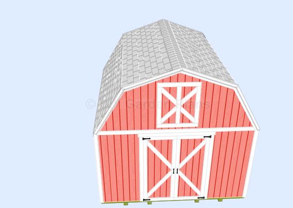 16x16 gambrel shed plans