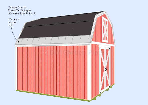 Gambrel Shed Plans With Loft Shingles