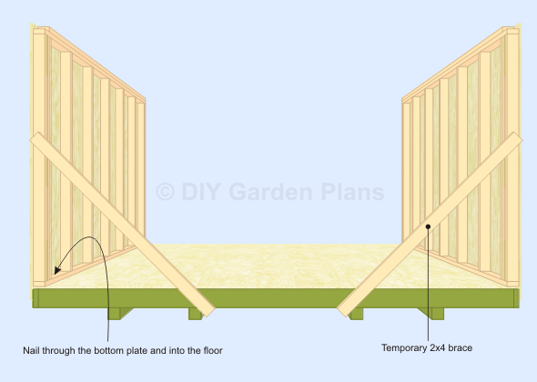 Gambrel Shed Plans With Loft: Side Walls