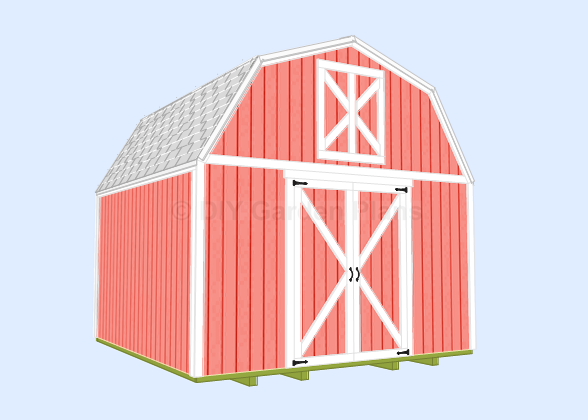 Gambrel-Barn Shed Plans