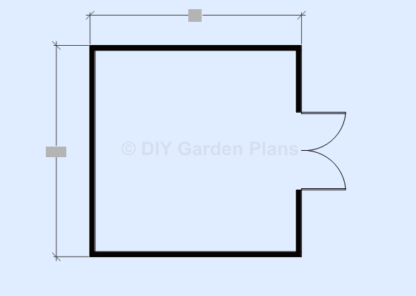 Gambrel shed plans floor view